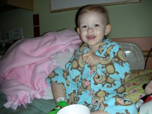 Charlotte during round 1 of chemo.
